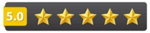 5 star ratings on Amazon