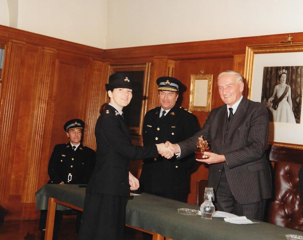 Sue receiving her award